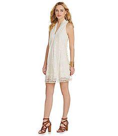 Chelsea and Violet Pom Pom Dress #Dillards nylon natural szXS 128.00