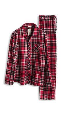 Esprit / Flanellen pyjama van katoen