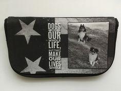 """Taschenorganizer - """"Dogs are not..."""" Schminktasche / Stiftetasche  - ein Designerstück von Fotokartenundmehr bei DaWanda"""