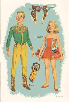Ranch Family 1957 * Free paper dolls at Arielle Gabriel's The International Paper Doll Society
