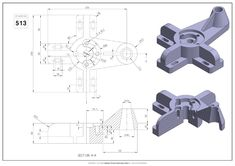Mechanical Engineering Design, Mechanical Design, Technical Drawings, 3d Drawings, Isometric Drawing Exercises, 3d Autocad, Cad Cam, 3d Cad Models, Unity 3d