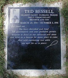"Ted Bessell - Actor/Director - (played boyfriend, Donald Hollinger on the Marlo Thomas TV series ""That Girl"") - Woodlawn Cemetery,  Santa Monica,CA"