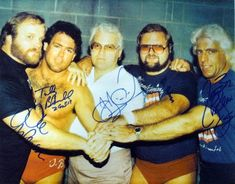 Four Horsemen 16x20 Autographed Photo, Ric Flair, Arn Anderson $119.99
