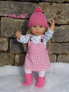 """Puppenkleidung - """"EisBlume"""" 5tlg Set Gr.40-45cm - ein Designerstück von handgeschick bei DaWanda"""