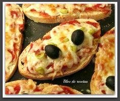 Bloc de recetas: Tostapizzas en microondas y paso a paso.