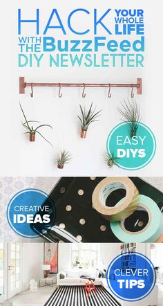 Hack Your Whole Life With The BuzzFeed DIY Newsletter Buzzfeed Diy, Hacks Diy, Home Hacks, Craft Corner, Diy Pins, Cool Diy, Fun Crafts, Diy Craft Projects, Projects To Try