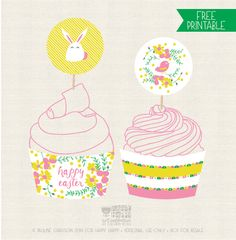 Easter/Spring Printable over on Happy Happy Creative Inspiration, Design Inspiration, Design Ideas, Fluffy Bunny, Easter Cake, Kitchen Prints, Easter Printables, Happy Art, Holidays With Kids