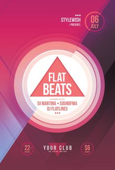 Flat Beats Flyer by styleWish (Download PSD file)