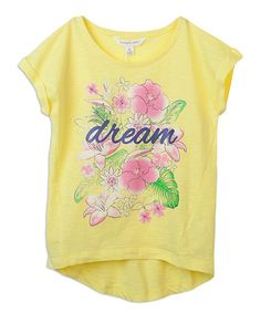 Another great find on #zulily! Blazing Yellow 'Dream' Hi-Low Tee - Girls #zulilyfinds