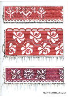 Gallery.ru / Фото #104 - 45 - Fleur55555 Stitch 2, Cross Stitch, Folk Embroidery, Knitting Stitches, Needlepoint, Bohemian Rug, Knit Crochet, Ornaments, Sewing
