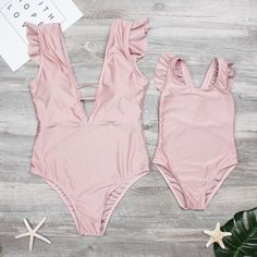 Mom and Me Cute Ruffles One-piece Swimsuit in Pink . baby fashion, fashion, clothes, 2018 2019 Matching Outfits Mommy and Me Swimwear Summer dress Mom and me Mommy me matching Kids fashion Baby mom Future family ʍѳʍʍy αทđ l૯ylα Mom And Baby Outfits, Twin Outfits, Matching Family Outfits, Baby Outfits Newborn, Kids Outfits, Fresh Outfits, Baby Bikini, Baby Swimsuit, Mommy And Me Swimwear