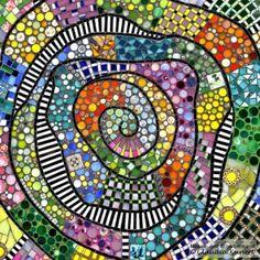 La vie en couleur table top by Scherbenzauber, mosaic, Caféhaus-Tisch, Bistrotisch, Gartentisch Mehr Mosaic Tile Art, Mosaic Artwork, Mosaic Crafts, Mosaic Projects, Mosaic Glass, Free Mosaic Patterns, Tile Patterns, Mosaic Stepping Stones, Mosaic Madness