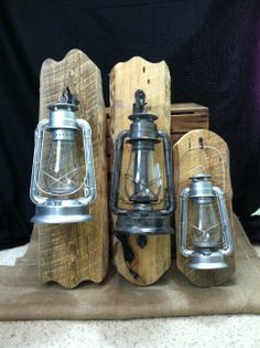 Rustic Electric Lantern Wall Fixtures. Purchase Them On Etsy Http://www.