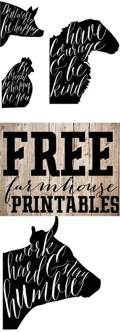 Free Printable Saturday-Farmhouse Animal Prints — The Mountain View Cottage