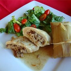 Real Homemade Tamales Allrecipes.com  (sounds like a great recipe to make with the kids...minus the chilis...lol)