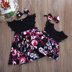 Avaliable now Family Matching Sister's Clothes Infant Newborn Baby Girls Floral Romper Dress/Dresses 2018 Short Sleeve Lace Ruffles Dress Romper Dress, Baby Dress, The Dress, Floral Romper, Bodysuit Dress, Floral Jumpsuit, Little Girl Dresses, Girls Dresses, Summer Dresses