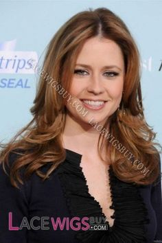 Jenna Fischer Long Hairstyle Remy Human Hair Wig