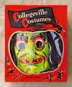 Witch Vintage Van Dam Made In France Halloween Mask Ben Cooper Collegeville NR