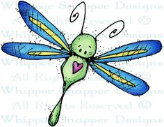 Dragonfly at Heart - Bugs - Rubber Stamps