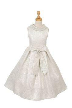 Elegant Teardrop Jacquard dress decorated with Lurex thread - Silver