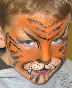 body art face painting and make-up of Zoe Thornbury-Phillips Halloween Circus, Halloween Make Up, Face Skin, Face And Body, Tiger Face Paints, Cool Face, Safari Party, Fantasy Makeup, Face Art