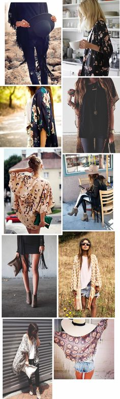 Kimonos! I love the floral or butterfly ones