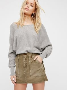 High Waist Military Skirt at Free People Clothing Boutique