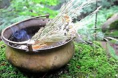 7.18.12  A traditional offering of meadow grasses to the God of the Sea.    ..Follow for all things Pagan. Witchcraft. Nature. Fantasy and more..