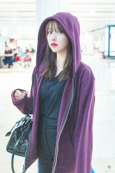 Kpop Girl Groups, Korean Girl Groups, Kpop Girls, Pop Fashion, Fashion Models, Cool Girl, My Girl, Sana Momo, Wearing Purple