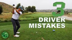 In this video I show you the top 3 mistakes all golfers make with their driver. Then I give you ways how you can fix those problems and hit better drives and. Golf Mats, Good Drive, Golf Drivers, Golfers, Play Golf, Mistakes, Games, Shots, Top
