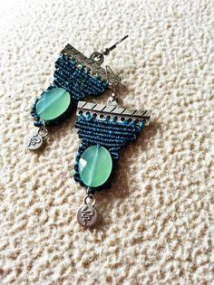 macrame earrings , bohemian, boho earrings handmade macrame jewellery