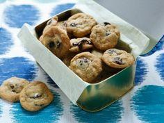 Mini Bittersweet Chocolate Chip Cookies with Maldon Sea Salt from CookingChannelTV.com