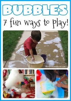 7 fun activities for toddlers using BUBBLES!