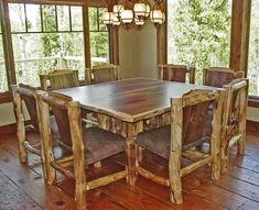 I love log furniture