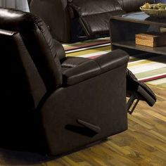 Palliser Furniture Fiesta Rocker Recliner Upholstery: Leather/PVC Match - Tulsa II Jet, Leather Type: All Leather Protected, Type: Manual