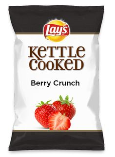 Wouldn't Berry Crunch be yummy as a chip? Lay's Do Us A Flavor is back, and the search is on for the yummiest flavor idea. Create a flavor, choose a chip and you could win $1 million! https://www.dousaflavor.com See Rules.
