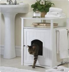 Kattenbak mooi wegwerken