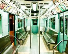 Mint Green New York City Subway Photography - NYC Subway Fine Art Photograph - new york city wall art - subway art - train photography Nyc Subway, New York Subway, Subway Art, Metro Subway, New York City, Level Design, Ville New York, A New York Minute, S Bahn