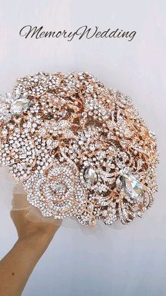 Jeweled crystal flowers weding bridal bouquet by Memory Wedding This listing is only for brooch bouquet, other accessories you can find in our store: Gold Wedding Colors, Bling Wedding, Crystal Wedding, Rose Wedding, Wedding Jewelry And Accessories, Accessories Shop, Wedding Brooch Bouquets, Bride Bouquets, Just In Case