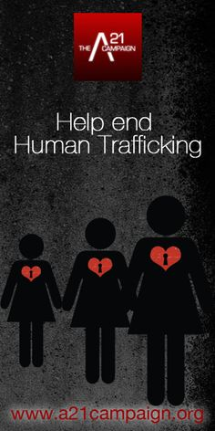 If we all come together to help, we can be successful in helping to end human trafficking. Say no to human trafficking.