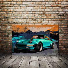 Porsche Carrera, Car Painting, Painting Canvas, Cool Car Drawings, Grand Art, Vintage Sports Cars, Automotive Art, Large Art, Beautiful Artwork