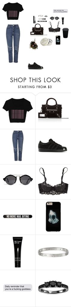 """Untitled #78"" by yee-eez ❤ liked on Polyvore featuring Balenciaga, Topshop, adidas Originals, Illesteva, La Perla, Bershka, Chanel, Luv Aj, Bobbi Brown Cosmetics and adidas"