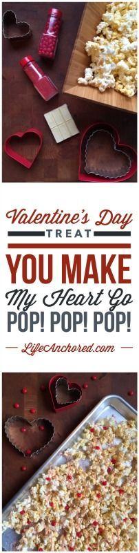 Valentines Day Chocolate Popcorn // Life Anchored