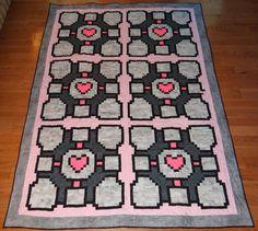 Companion cube quilt