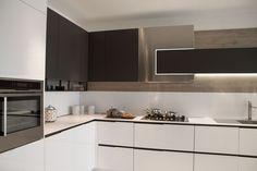 Modern Kitchen Design In Usa Realizzazione Cucina Moderna Orange Evolution 6330