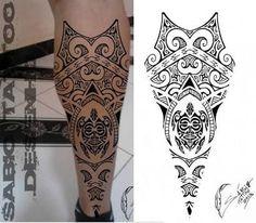 tattoo maori perna - Pesquisa