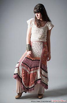 Вязанные платья в стиле бохо... - Все в ажуре... (вязание крючком) - Страна Мам