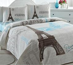 Paris Eiffel Tower Lightweight Summer Comforter Blanket Bedspreads Quilts Full Double Queen Size Bedspread Set Bedding istanbulhomecollection paris series http://www.amazon.com/dp/B00WYDEDUO/ref=cm_sw_r_pi_dp_lgtWvb1527HKQ