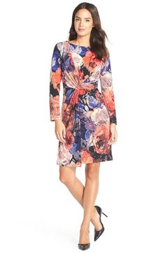 Adrianna Papell Adrianna PapellKnot Front Jersey Sheath Dress available at #Nordstrom