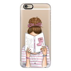 iPhone 6 Plus/6/5/5s/5c Case - Fashion reading nerd book addict... ($40) ❤ liked on Polyvore featuring accessories, tech accessories, iphone case, slim iphone case, iphone cover case and apple iphone cases